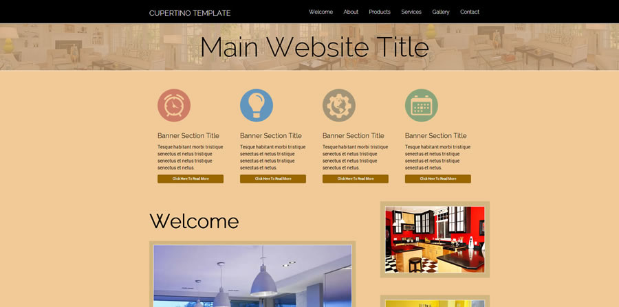 Professional Web Template for Adobe Dreamweaver and other website creation tools.